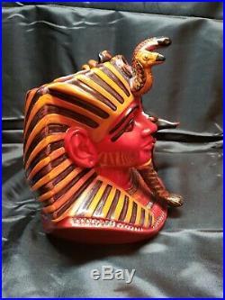 ULTRA RARE Royal Doulton Flambe The Pharaoh D7028 Toby Character Jug