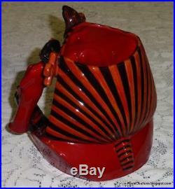 ULTRA RARE Royal Doulton The Pharaoh D7028 Flambe Toby Character Jug GIFT