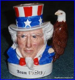 Uncle Sam Royal Doulton Character Toby Jug For Jim Beam Stars And Stripes RARE