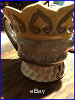 V. RARE ROYAL DOULTON YELLOW CROWN OLD KING COLE Large SIZE CHARACTER JUG 1938-39