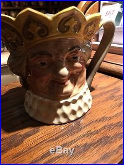 V. Rare Royal Doulton Yellow Crown Old King Cole Small Size Character Jug 1938-39