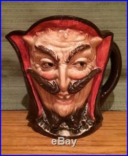 VERY RARE Royal Doulton Large Double Sided Mephistopheles Character Jug