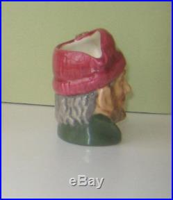 Very Rare Royal Doulton Miniature Lumberjack Character Jug Excellent Condition