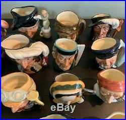 Vintage Large Lot Collection of 84 Royal Doulton Miniature Character Toby Jugs