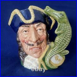 Vintage Royal Doulton Captain Hook D6597 Large 7 Toby Character Mug Jug 1964