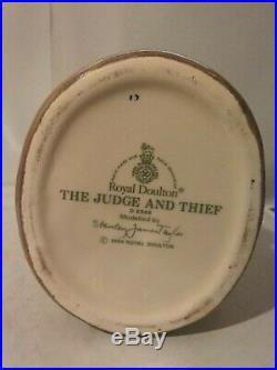 Vintage Royal Doulton Character Toby Jug The Judge And Thief D6988 5 1995-1998