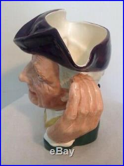 Vintage Royal Doulton Large 7.5 Character Jug'ard of'earing D6588 Toby Ex Con