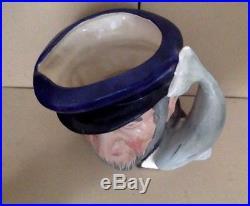 Vintage Royal Doulton. Large Character Toby Mug, Jug. Capt Ahab D6500. 1958