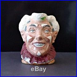 Vintage Royal Doulton Large Toby Character Jug The Clown withwhite hair Rare