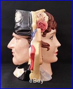 Vintage Royal Doulton Large Two Sided Character Jug Napoleon&josephine D6750
