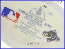 Vintage Royal Doulton character toby jug Toronto Blue Jays D 6973