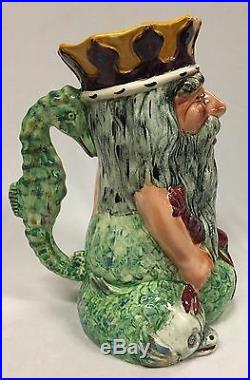 Vintage Shorter and Sons Large Father Neptune Character Jug Made in England