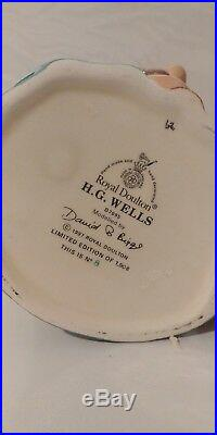Vtg. Large Royal Doulton Character Jug H. G. Wells D7095 6 3/4 1998 Ltd 1,998