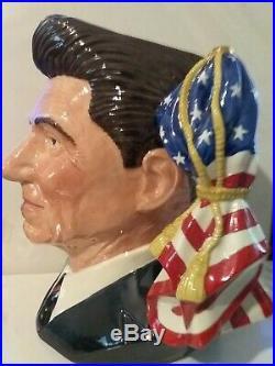 Vtg Royal Doulton Character Jug Ronald Reagan D6718 Large 7.75 1984 Ltd 5000