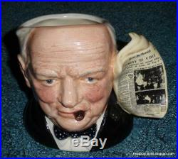 Winston Churchill Royal Doulton Character Toby Jug D6934 EXCELLENT GIFT