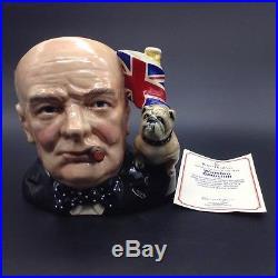 Winston Churchill Royal Doulton Toby Character Jug of the Year Mug 1992 1991